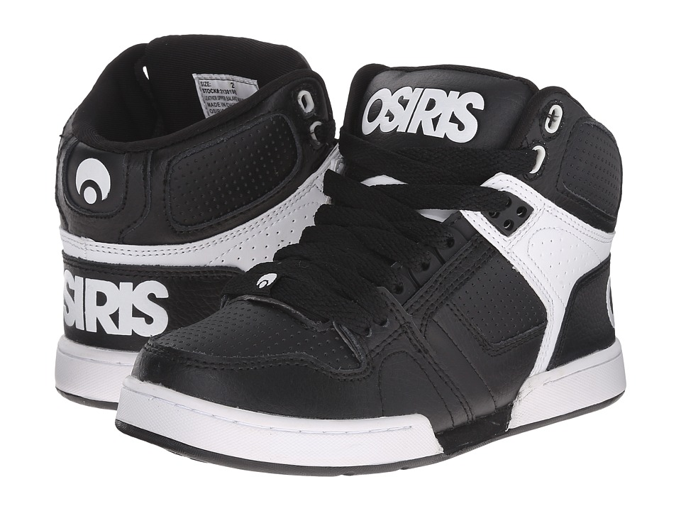 Osiris Kids - NYC 83 (Little Kid/Big Kid) (Black/White/White) Boys Shoes