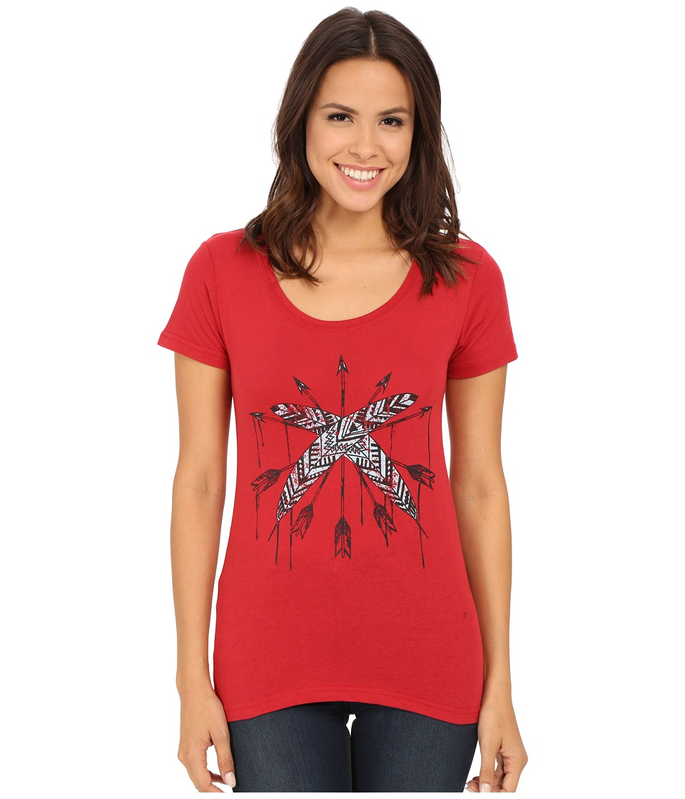 Roper - 9918 Jersey Tee (Red) Women's T Shirt