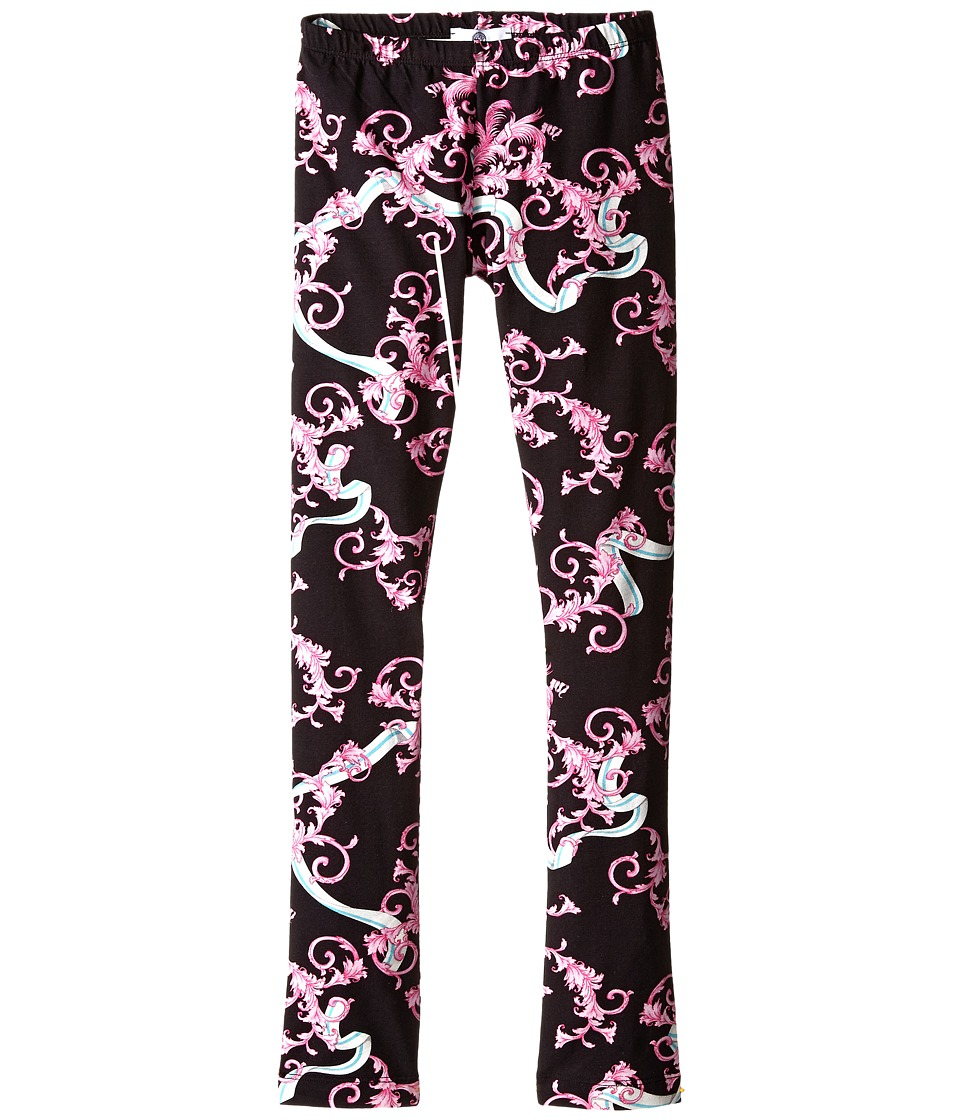 Versace Kids - Dragon All Over Print Leggings (Big Kids) (Pink/Black) Girl