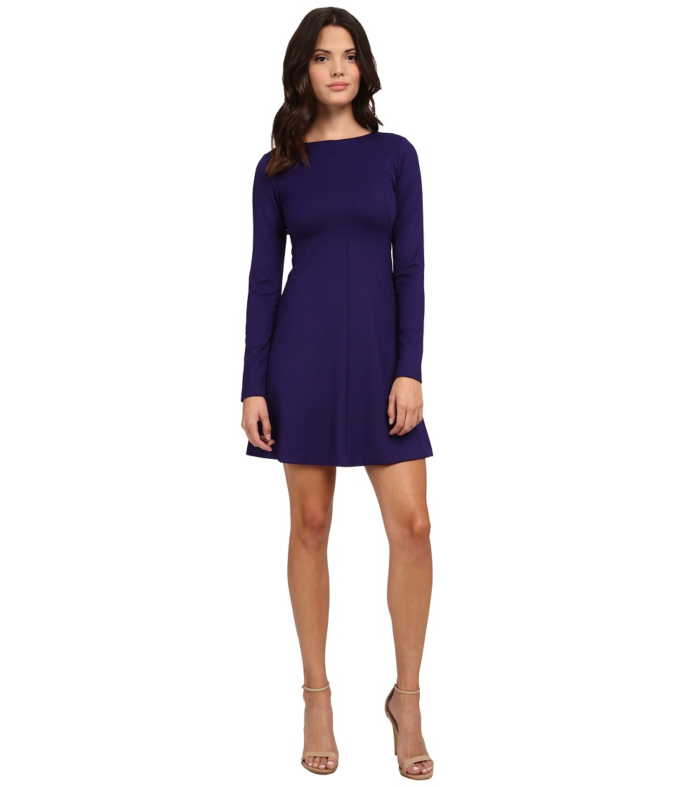 Amanda Uprichard - Long Sleeve Pan Am Dress (Indigo) Women