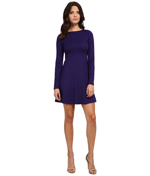 Amanda Uprichard - Long Sleeve Pan Am Dress (Indigo) Women's Dress