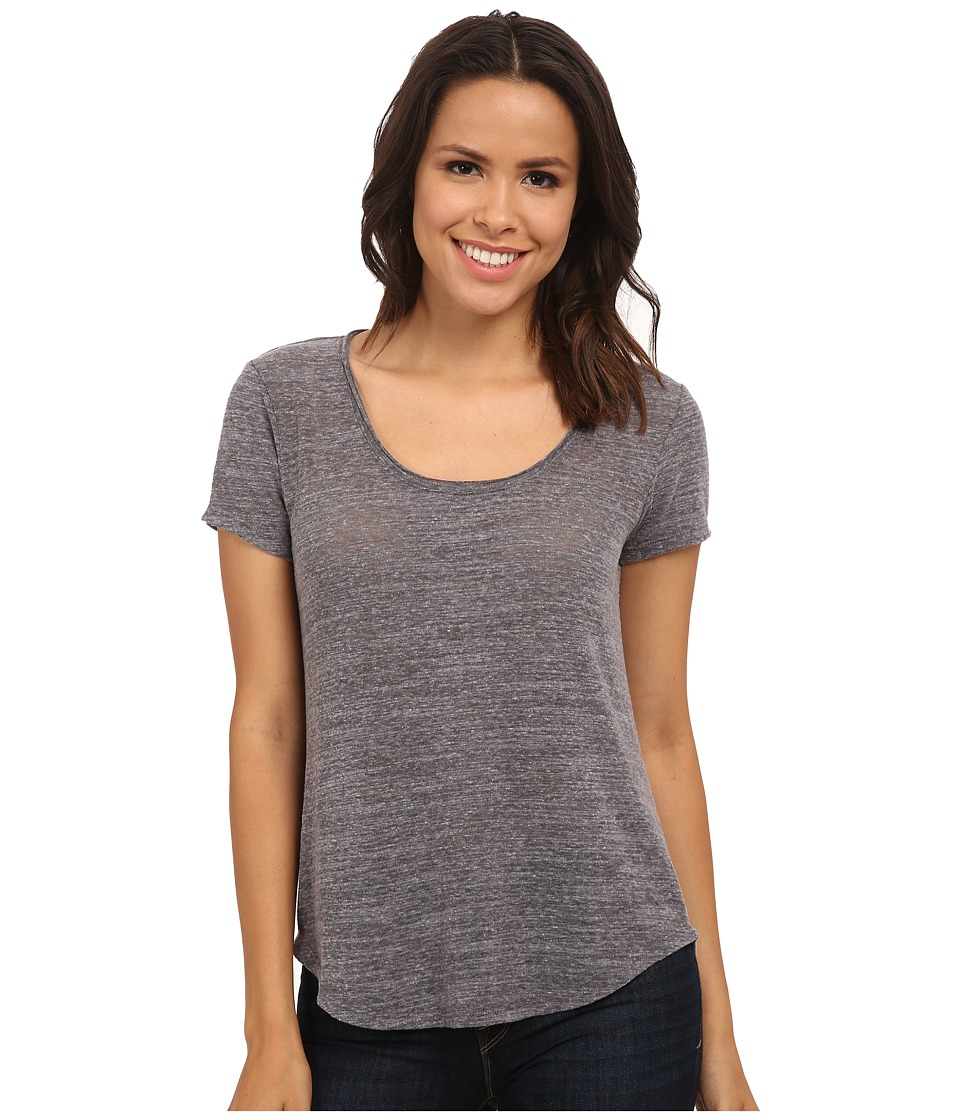 Michael Stars - Chelsea Triblend Short Sleeve Scoop Neck (Heather Grey) Women's Clothing