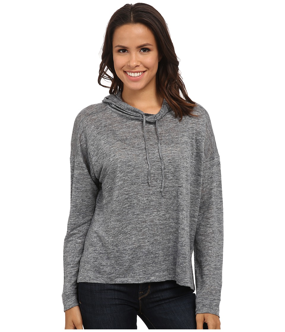 Michael Stars - Linen Knit Long Sleeve Hoodie (Charcoal) Women's Clothing