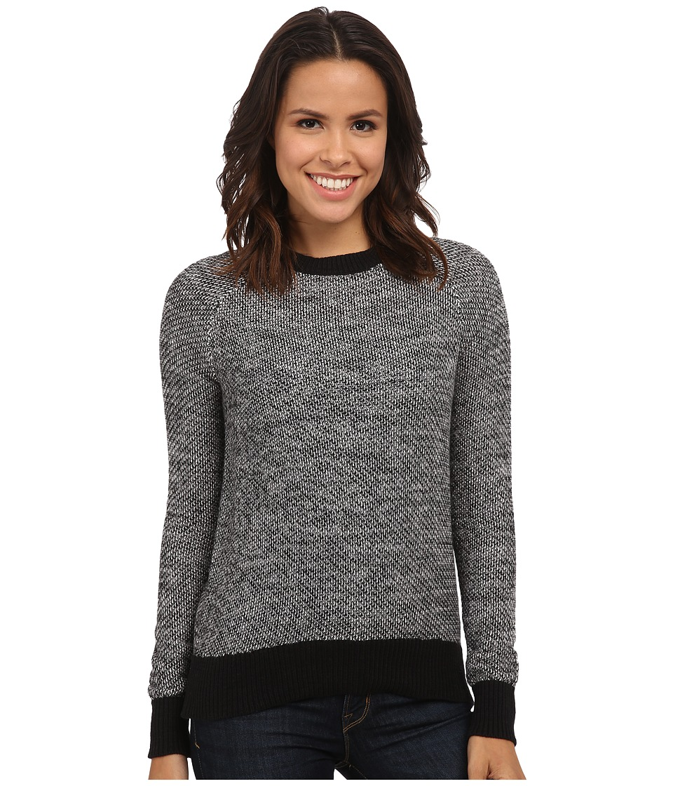 Michael Stars - Cotton Slub Front to Back Hi Low Zip (Tweed) Women's Clothing