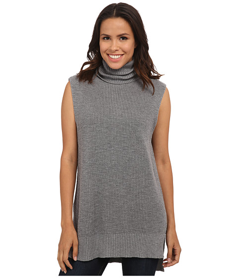 Michael Stars - Cotton Slub Sleeveless Turtleneck Tunic (Grey) Women