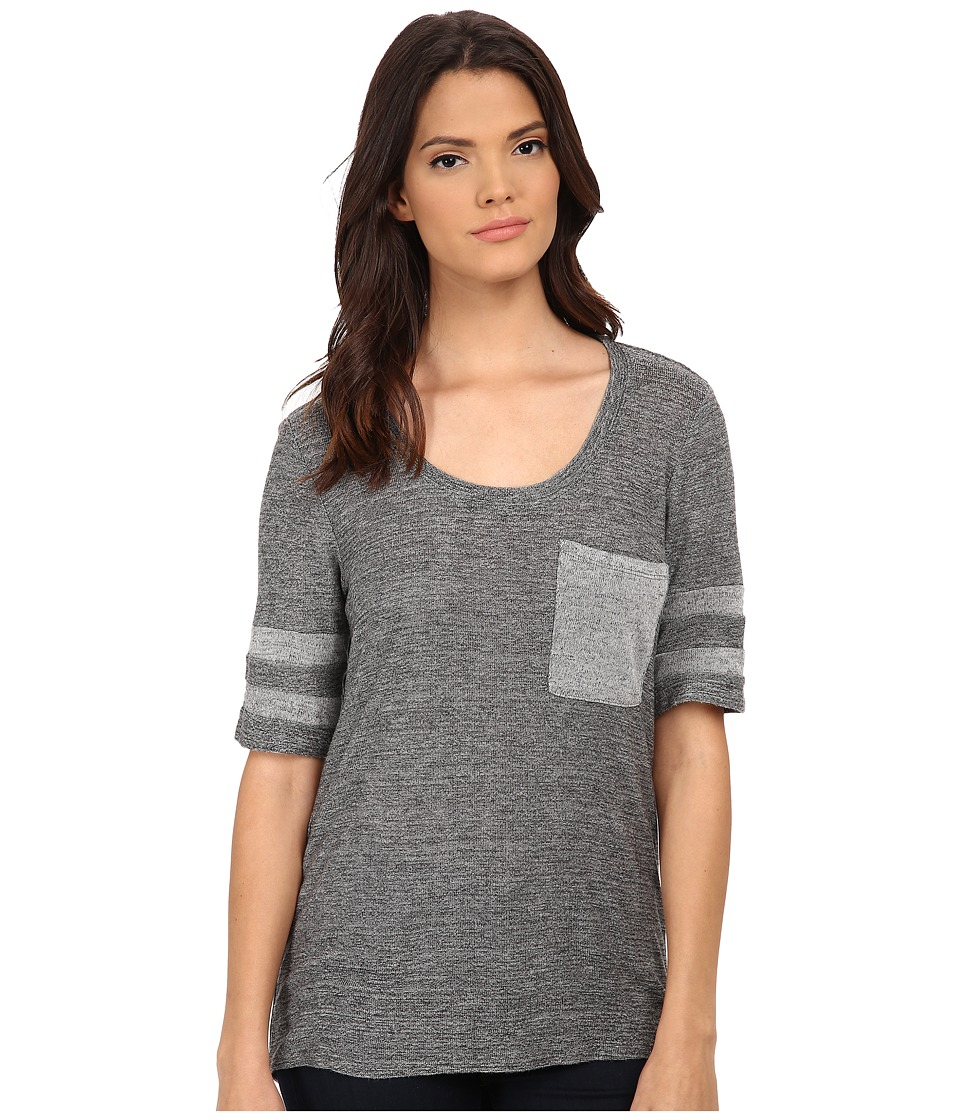 Michael Stars - Melange Sweater Knit Elbow Sleeve w/ Pocket (Heather Grey) Women's Sweater