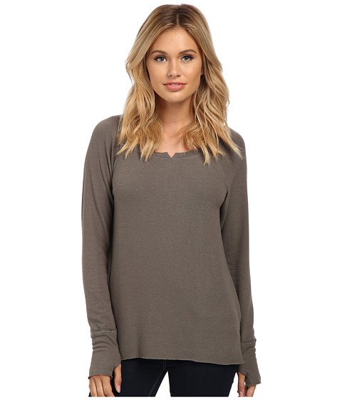 Michael Stars - Madison Brushed Jersey Long Sleeve w/ Thumbholes (Fatigue) Women