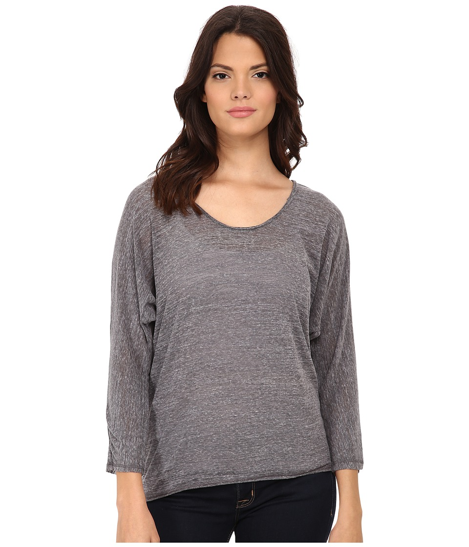 Michael Stars Chelsea Triblend Elbow Sleeve Scoop Neck (Heather Grey) Women's Clothing