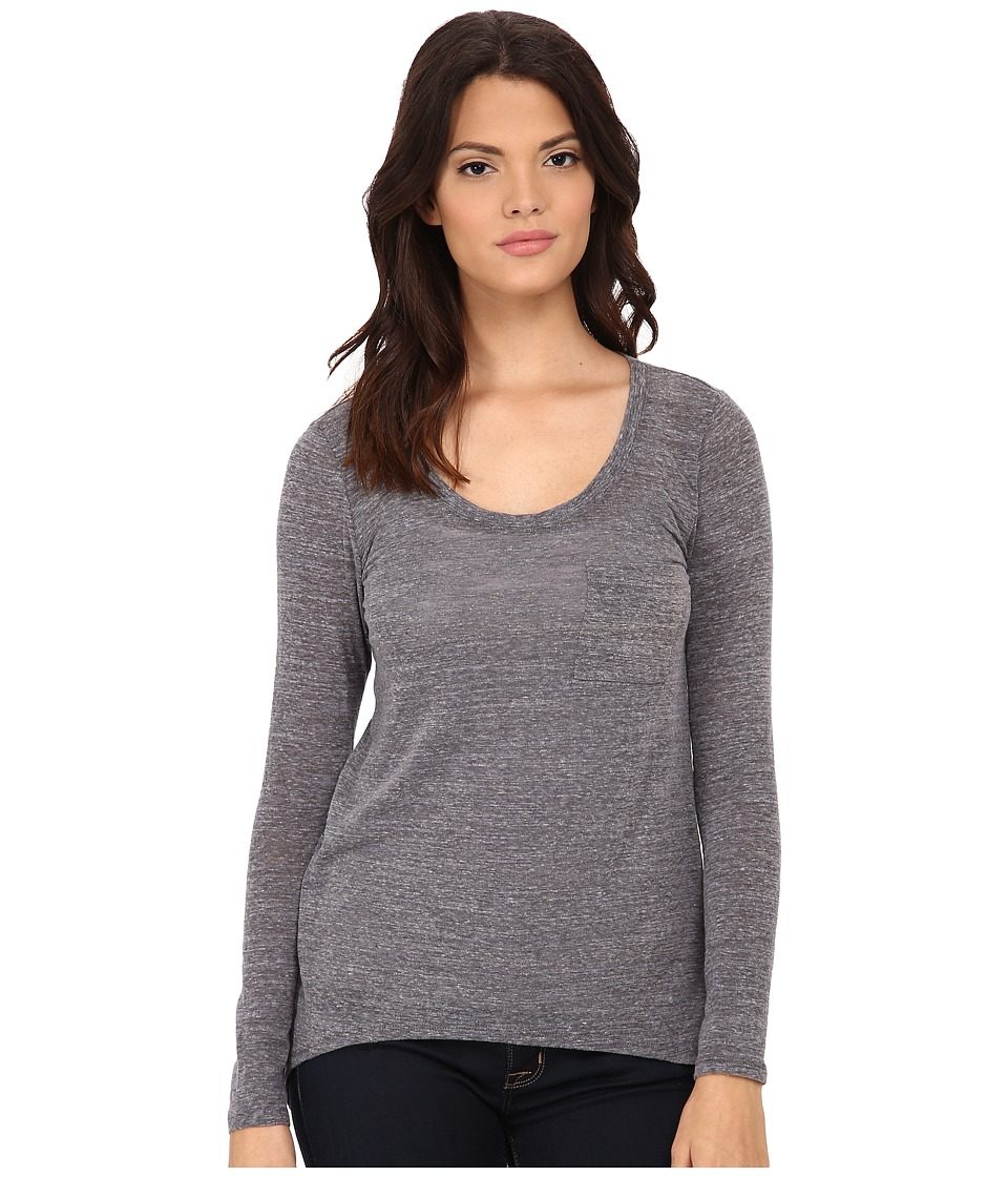 Michael Stars - Chelsea Triblend Extreme Hi Low w/ Pocket (Heather Grey) Women's Clothing