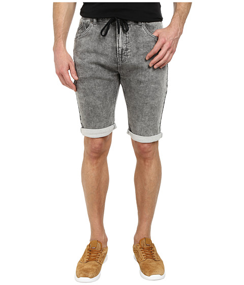 William Rast - Acid Wash Jogging Shorts (Black) Men's Shorts