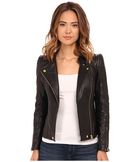 Beach Riot - Adios Leather Jacket (Black Blank) Women's Jacket