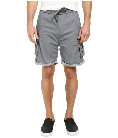 William Rast - Jersey Linen Cargo Shorts (Grey) Men's Shorts
