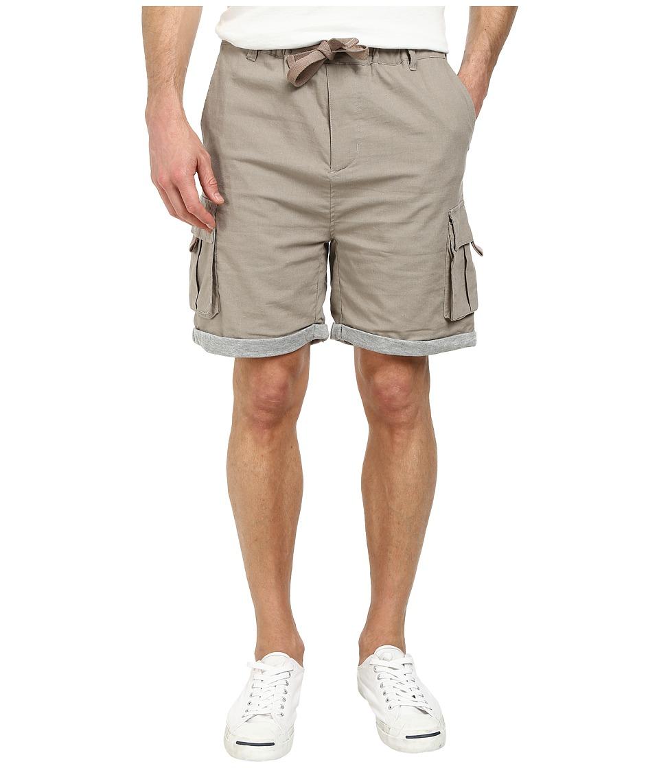William Rast - Jersey Linen Cargo Shorts (Sand) Men