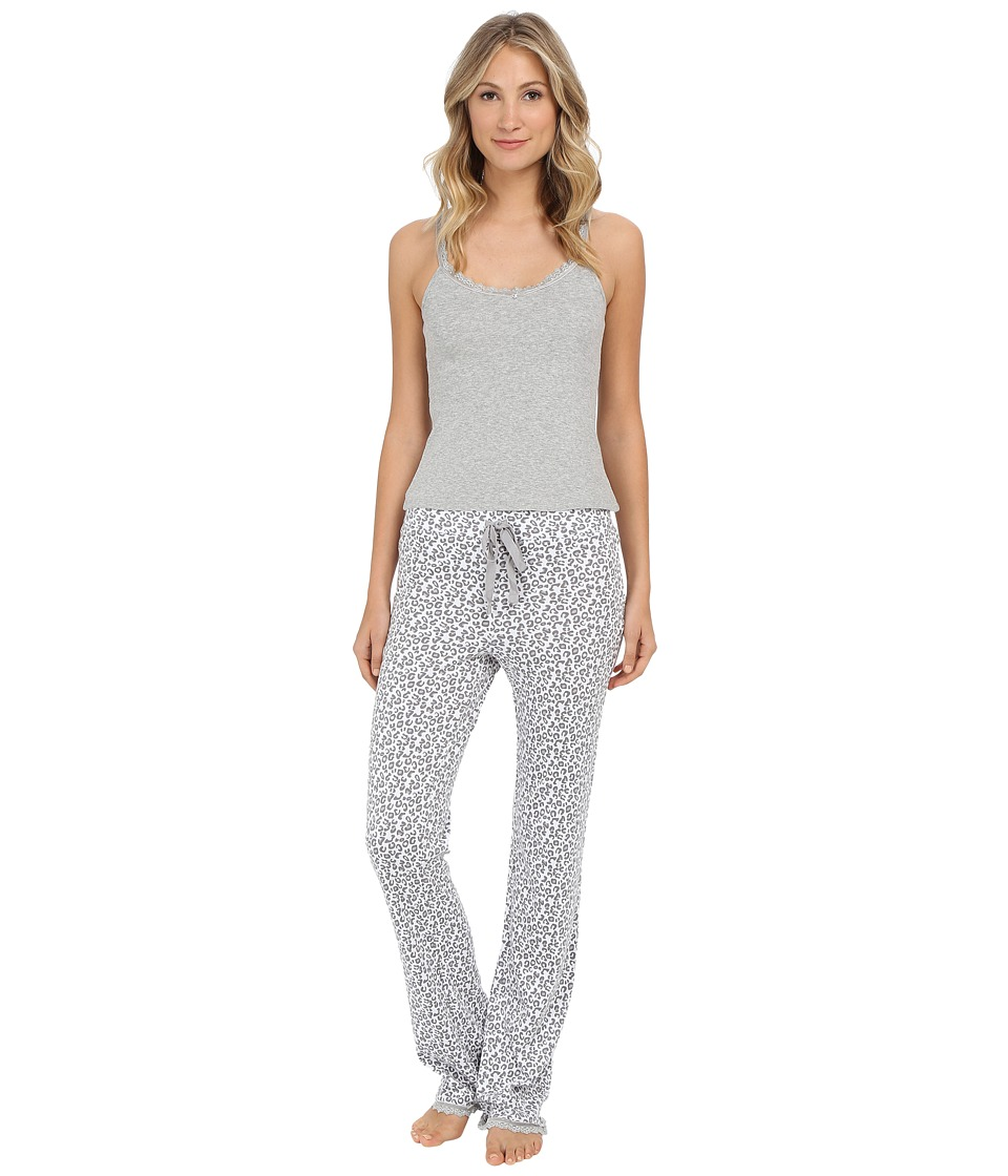Michael Stars - Cami and Drawstring Pants PJ Set (Snow Leopard) Women's Pajama Sets