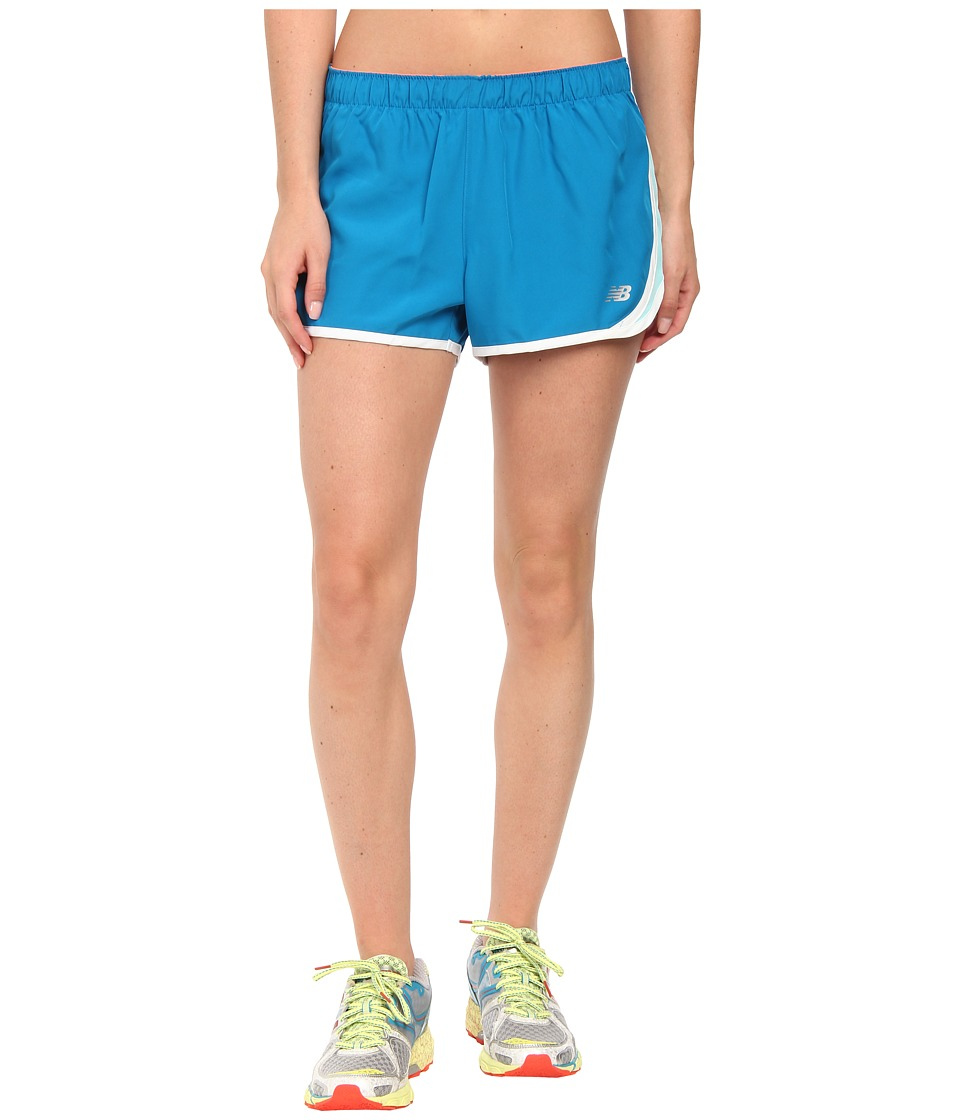 New Balance - Accelerate 2.5 Shorts (Wave Blue) Women's Shorts