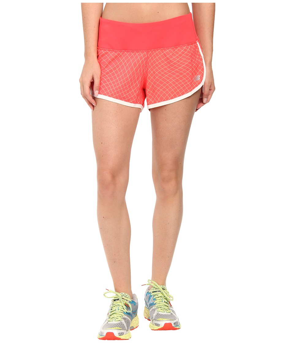 New Balance - Impact 3 Shorts Graphic Print (Bright Cherry) Women's Shorts