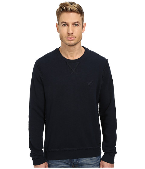William Rast - French Terry Crew Neck (Navy) Men's Clothing