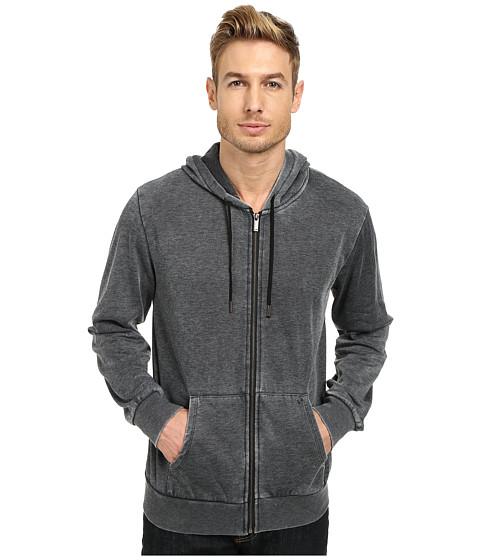William Rast - Burnout Hoodie (Charcoal) Men's Sweatshirt