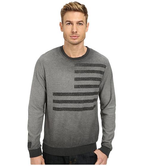 William Rast - Dirty Wash Sweatshirt (Charcoal) Men