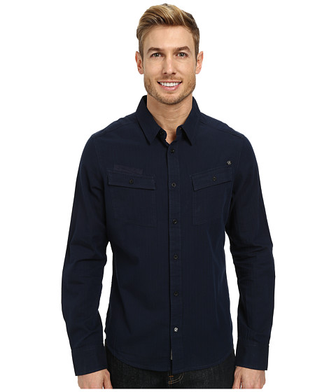 William Rast - Poplin Shirt (Navy) Men