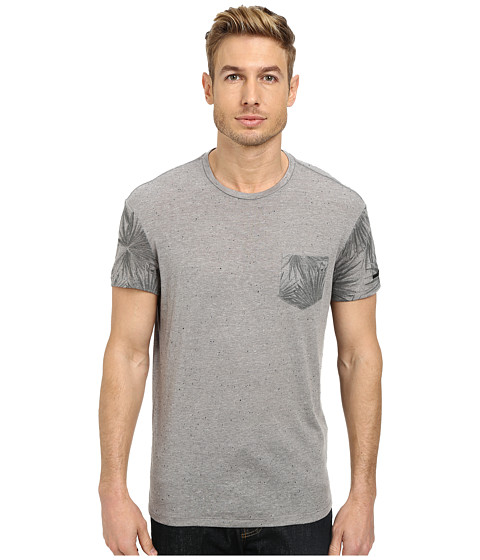 William Rast - Palm Print Tee (Grey) Men's T Shirt