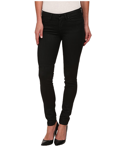 William Rast - PU Coated Twill Skinny Jeans in Black (Black) Women's Jeans