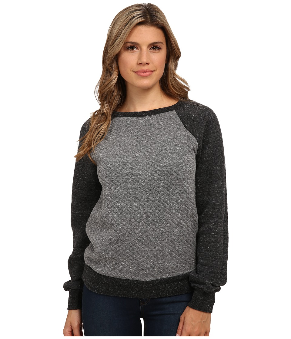 Michael Stars - Quilt Long Sleeve Boat Neck Sweatshirt (Heather Grey) Women's Sweatshirt