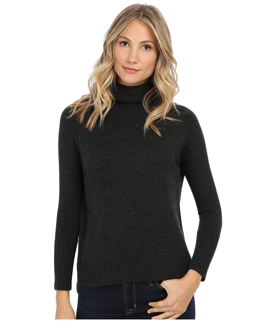 Michael Stars - Cashmere Blend Long Sleeve Turtleneck (Charcoal) Women's Sweater
