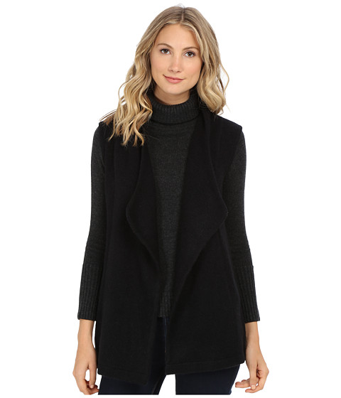 Michael Stars - Yak Vest w/ Pockets (Black) Women's Vest
