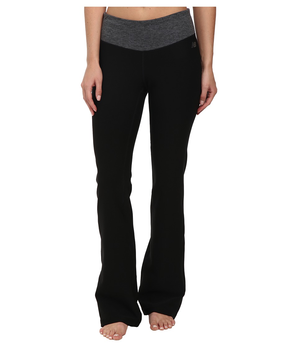 New Balance - Fierce Flare Pants - Regular (Black Heather) Women's Workout