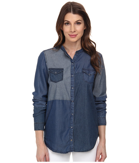 William Rast - Patchwork Jeans Shirt (Indigo) Women