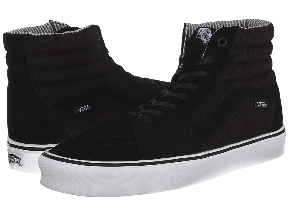 Vans - Sk8-Hi Lite ((Hemp) Black/White Pig Suede/Hemp) Men's Skate Shoes