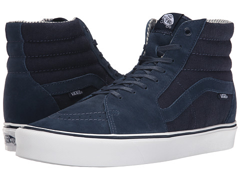 Vans - Sk8-Hi Lite ((Hemp) Dress Blues/Pig Suede/Hemp) Men's Skate Shoes