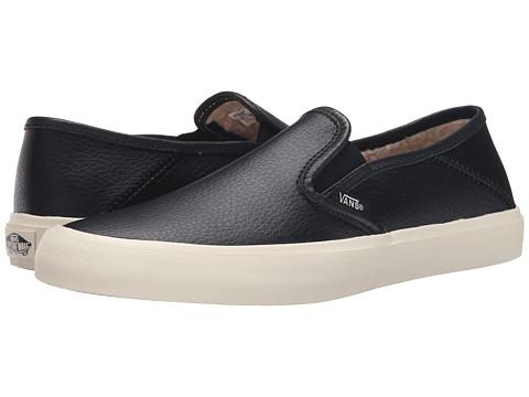 Vans - Slip-On SF ((Leather) Black) Women's Skate Shoes