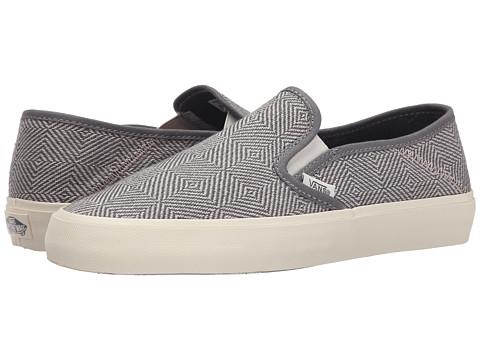 Vans - Slip-On SF ((Geo Wool) Gray) Women's Skate Shoes