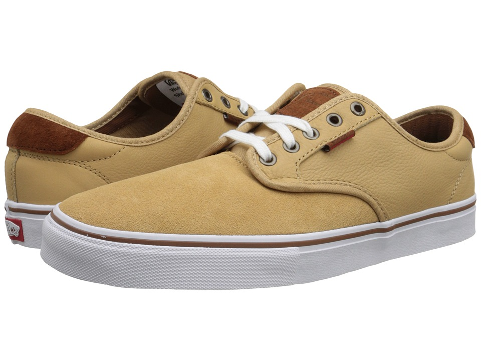 Vans - Chima Pro ((Premium) Tan/White) Men's Skate Shoes