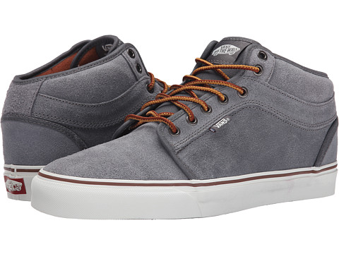 Vans - Chukka Mid Top (Pewter Oiled Suede) Men's Skate Shoes