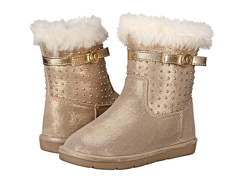 MICHAEL Michael Kors Kids - Grace Tiff-T (Toddler/Little Kid) (Gold) Girl's Shoes