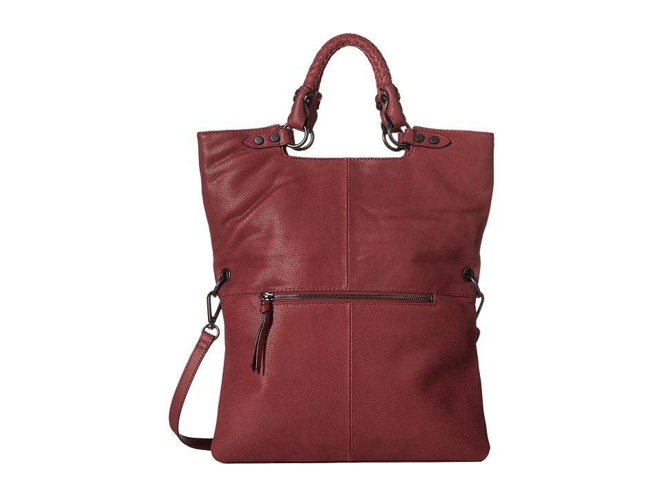 Elliott Lucca - Iara Crossbody Foldover Tote (Cabernet) Tote Handbags