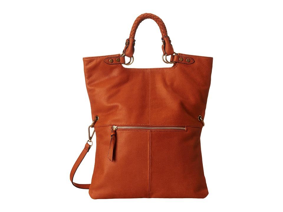 Elliott Lucca - Iara Crossbody Foldover Tote (Cognac) Tote Handbags