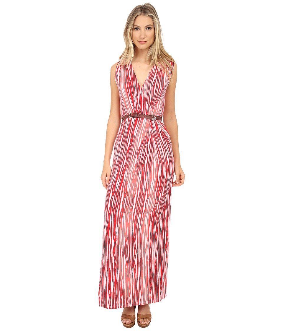 Tart - Charlandra Maxi (Coral Brush Stripe) Women's Dress