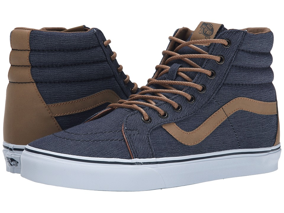 Vans - SK8-Hi Reissue ((Denim C&L) Navy) Skate Shoes