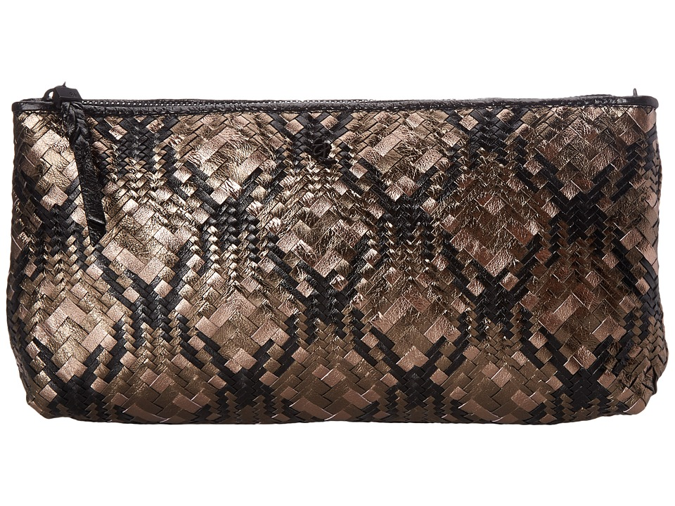 Elliott Lucca - Bali '89 Three Way Demi Clutch (Black Metallic Multi) Clutch Handbags