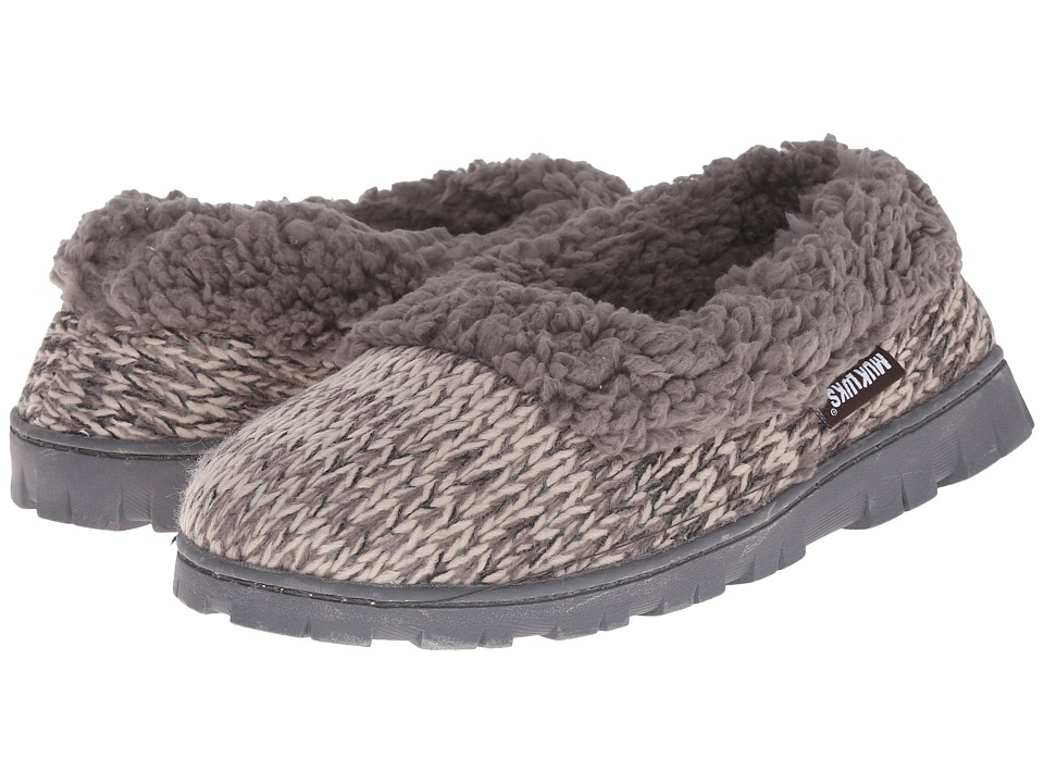 MUK LUKS - Full Foot Slipper (Grey) Women's Slippers