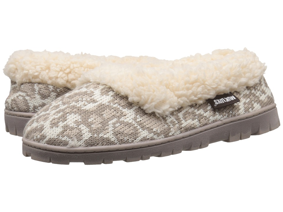 MUK LUKS - Full Foot Slipper (Snow) Women's Slippers