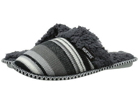MUK LUKS - Knit Scuff (Black Neutral) Women's Slippers