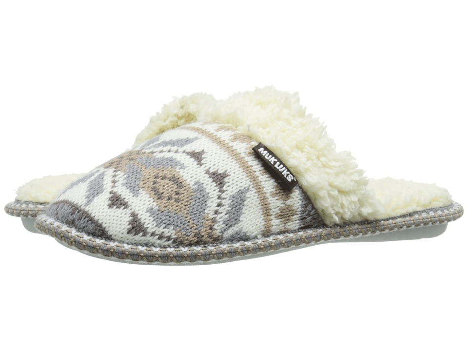 MUK LUKS - Knit Scuff (Winter White) Women's Slippers