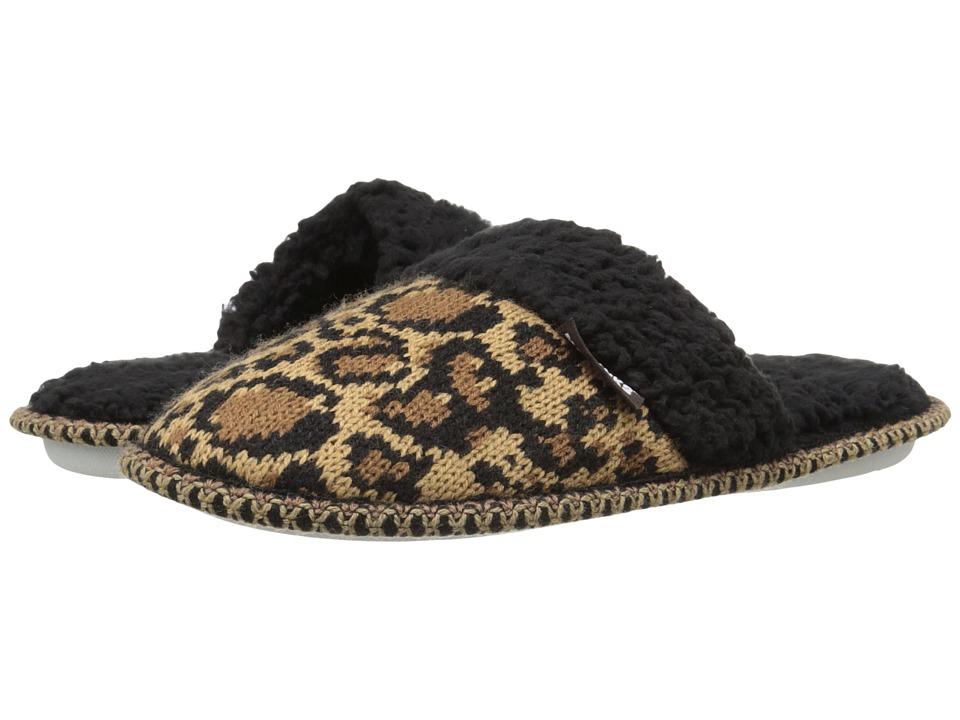 MUK LUKS - Knit Scuff (Leopard) Women's Slippers