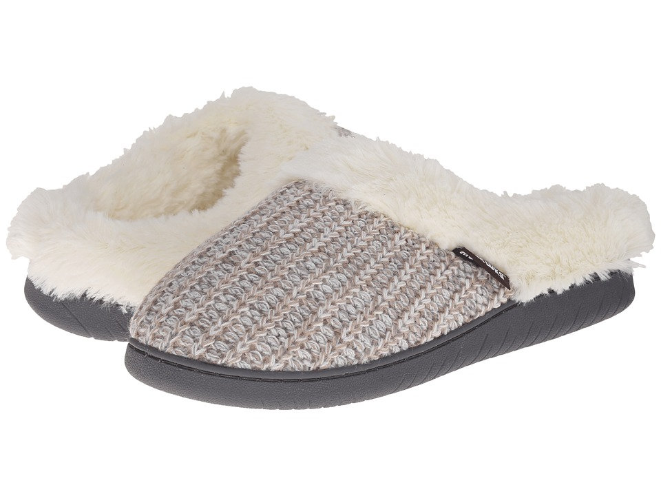 MUK LUKS - Knit Clogs (Winter White) Women's Slippers