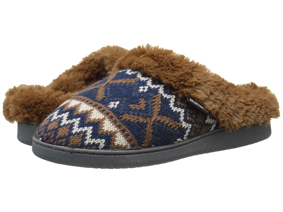 MUK LUKS - Knit Clogs (Twilight/Camel) Women's Slippers